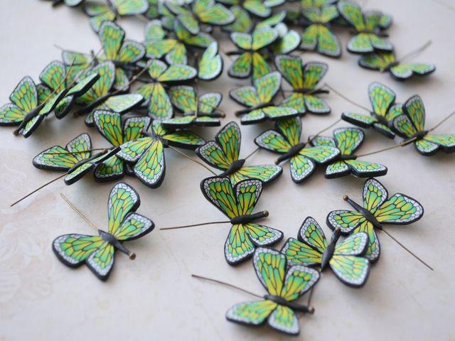 бабочки из полимерной глины
