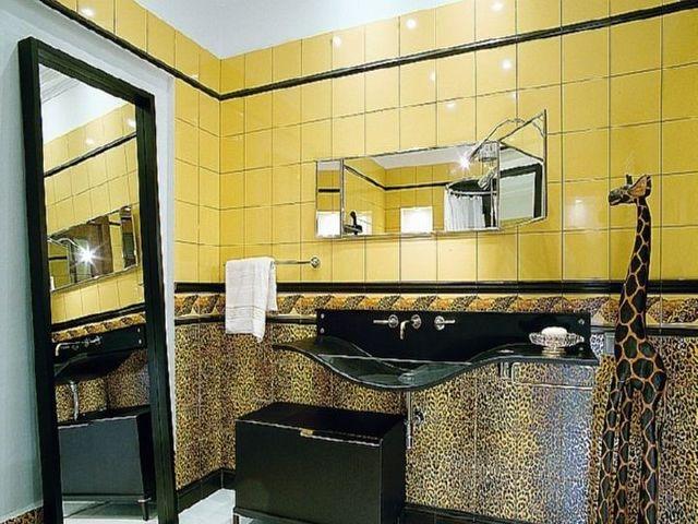 ванная комната в стиле сафари