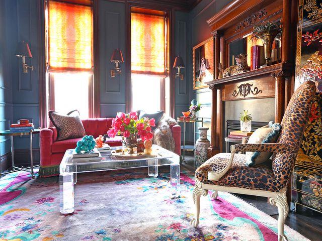 жилая комната в богемном стиле