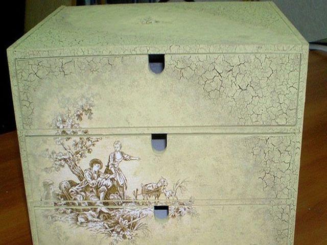 мебель, декорированная декупажем