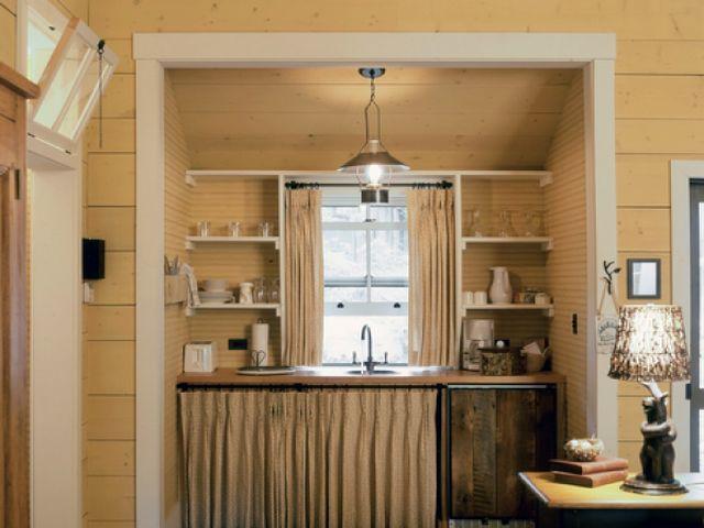 кухня в нише