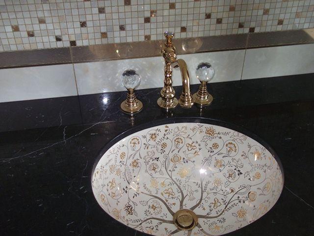 расписная сантехника в марокканском стиле