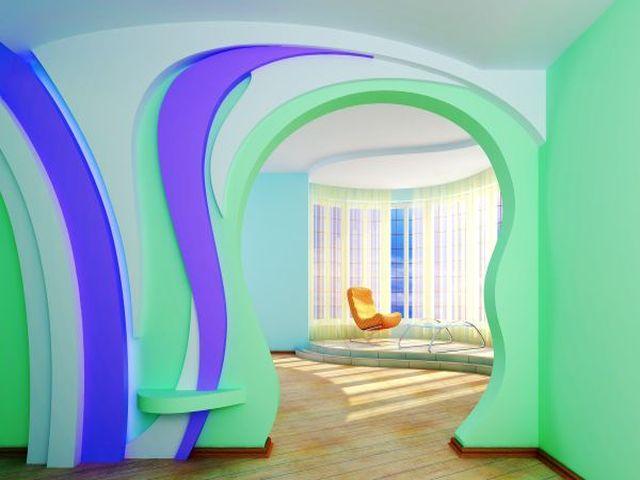 гипсокартоновая перегородка с аркой