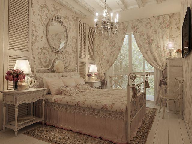 роскошные шторы в стиле шебби шик