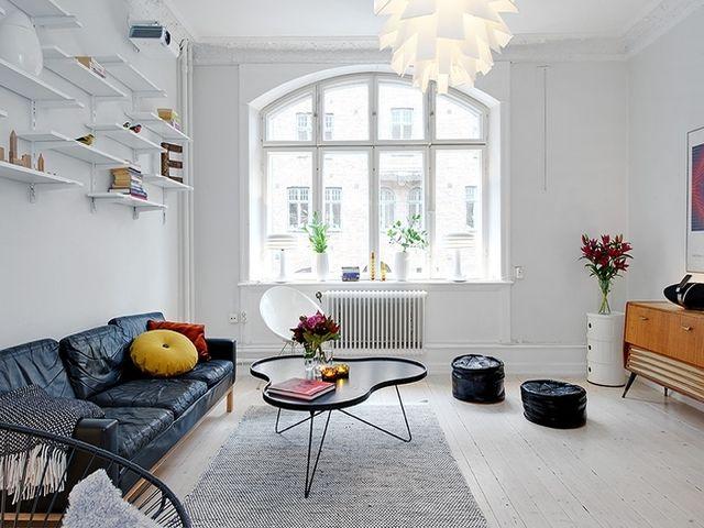 современная комната в скандинавском стиле