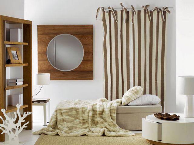 светлая норвежская спальня