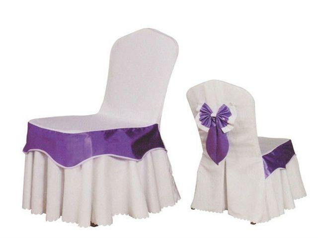 стул в красивом чехле