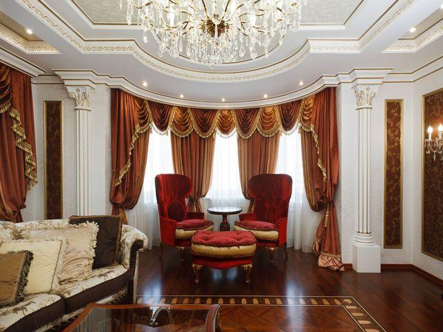 роскошные шторы в венецианском стиле