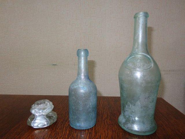подсвечник из серебряной бутылки