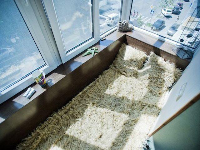 летняя спальня на балконе