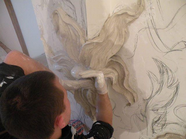 процесс создания барельефа