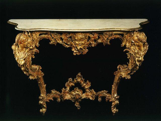 консольный столик в стиле барокко