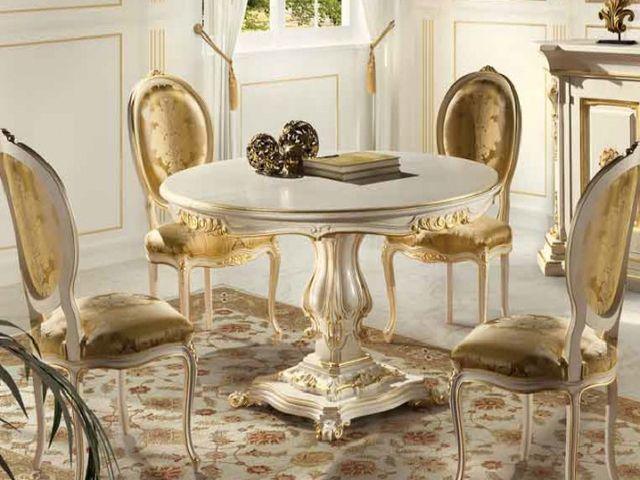 круглый стол в стиле барокко
