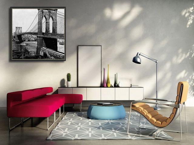 постеры в нью-йоркском интерьере