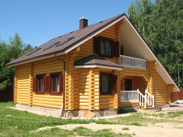 дом из оцилиндрованной древесины