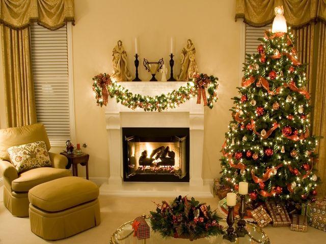 новогодняя елка в интерьере