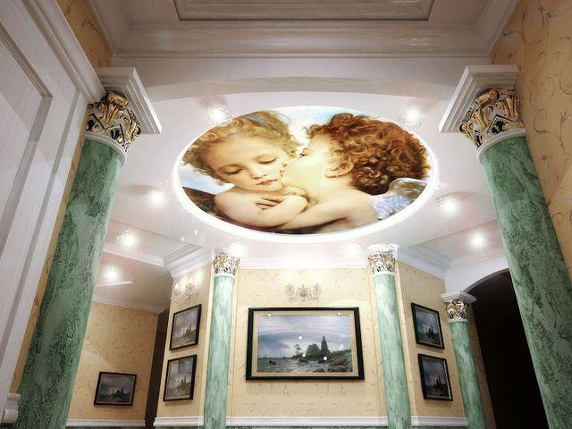 фреска с ангелом на потолке