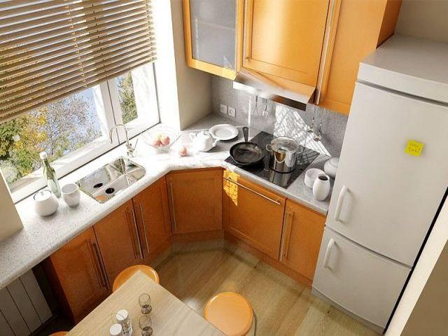 рабочая кухонная зона на балконе