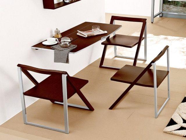 откидной стол в интерьере кухни