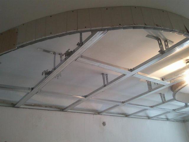 создание каркаса для гипсокартонового потолка