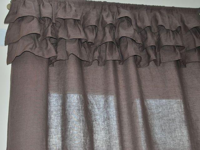 стандартное окно и шторы с рюшками