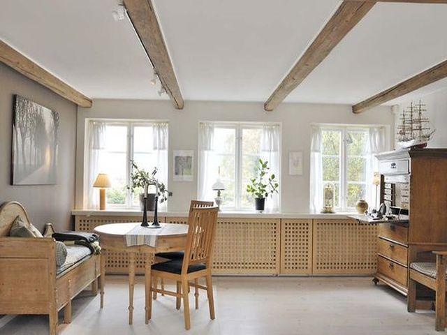 деревянная мебель в шведском интерьере
