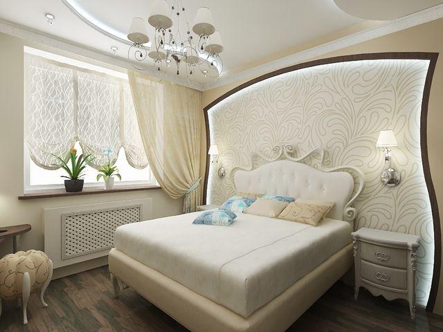 Интерьер спальни 3 на 3