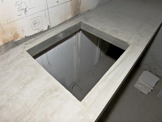 процесс создания столешницы из бетона