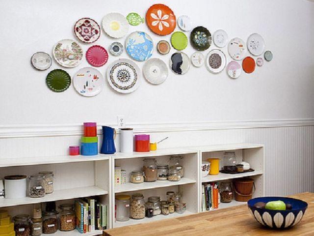 декоративные тарелки в стиле кантри