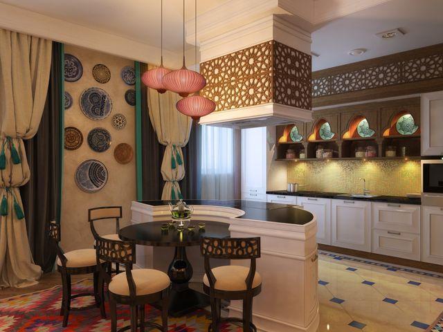 интерьер кухни в турецком стиле