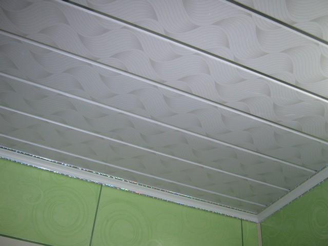 потолок из вагонки в ванной