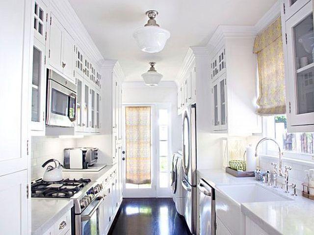 параллельный кухонный гарнитур