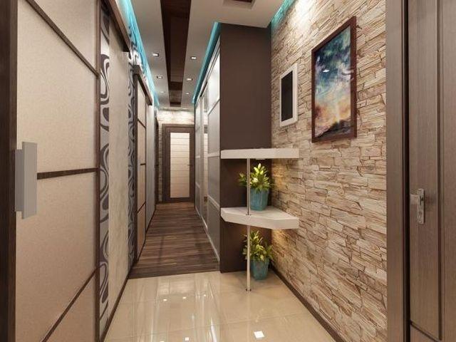 стильный узкий коридор