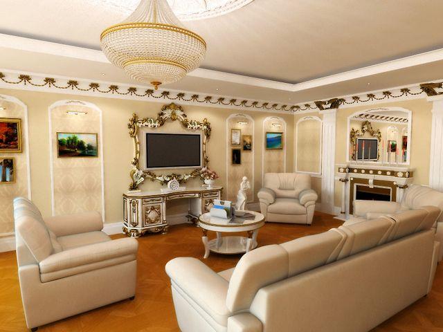 просторная классическая гостиная