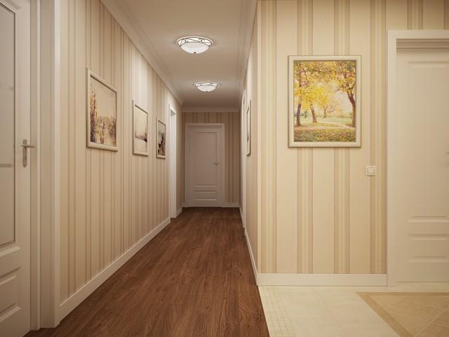 обилие света в узком коридоре