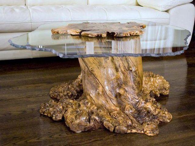 стол из коряги