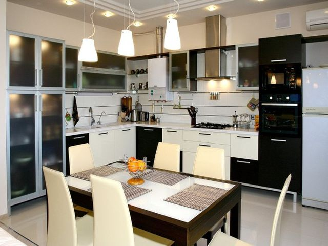 кухня с правильным освещением