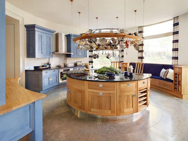 круглый кухонный островок