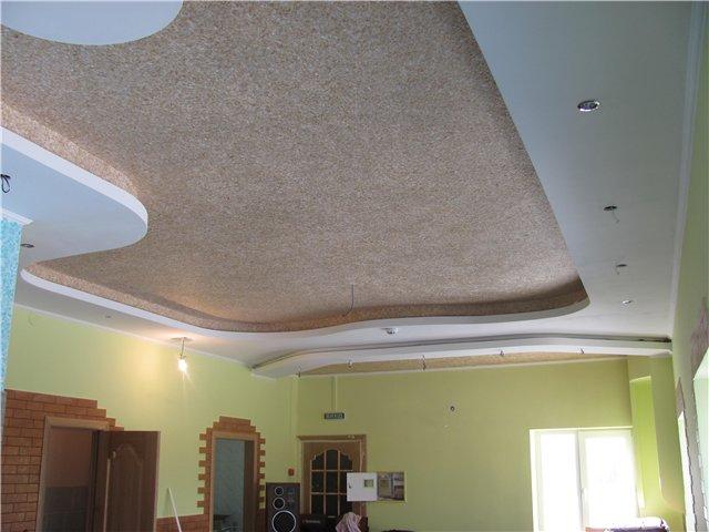 жидкие обои на потолке