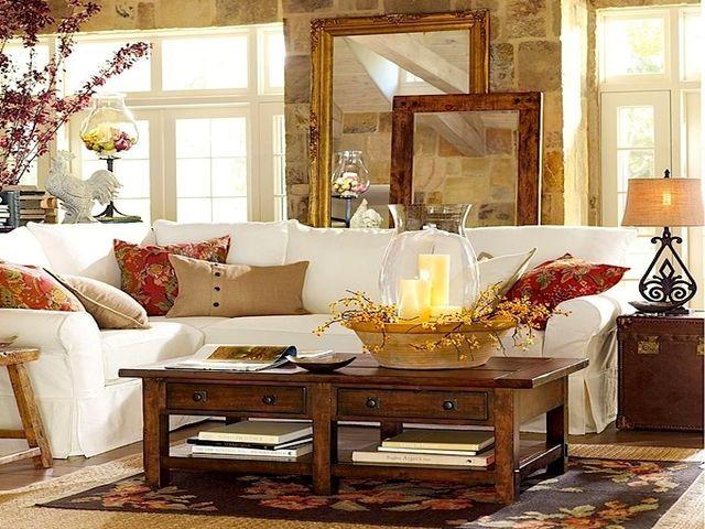 комната, оформленная по-осеннему