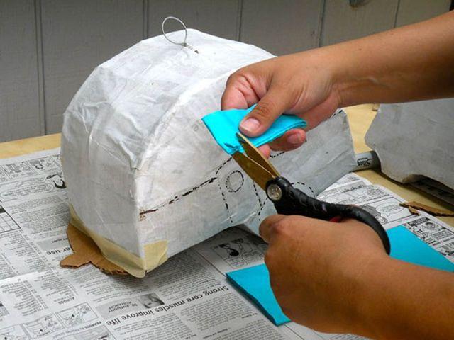 процесс изготовления пиньяты