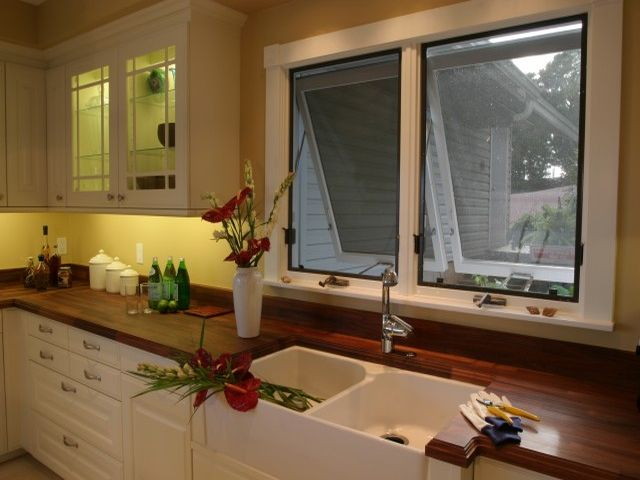 раковина в интерьере кухни