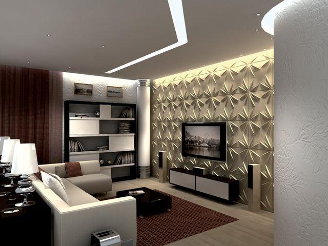 3D-панели в гостиной