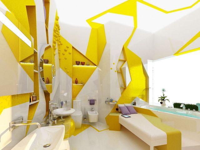маленькая комната в кубическом стиле