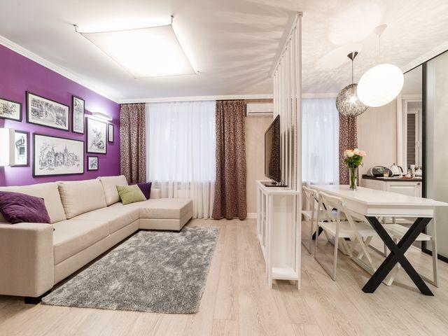 маленькая квартира-студия в кремовых тонах