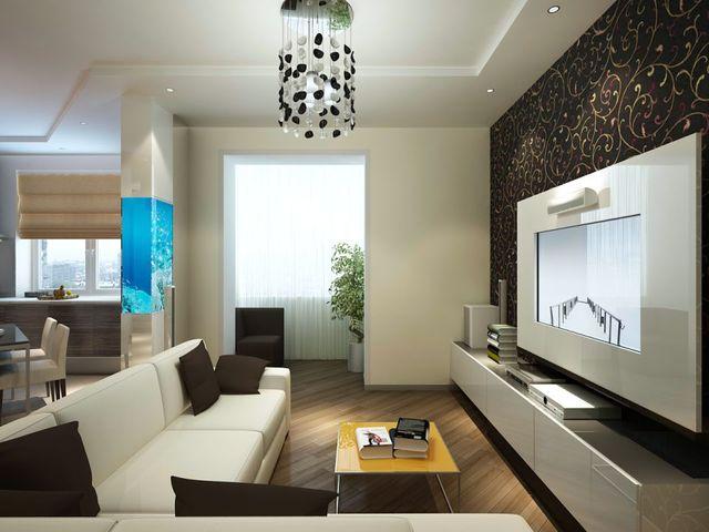 гостиная размером 17 кв. метров