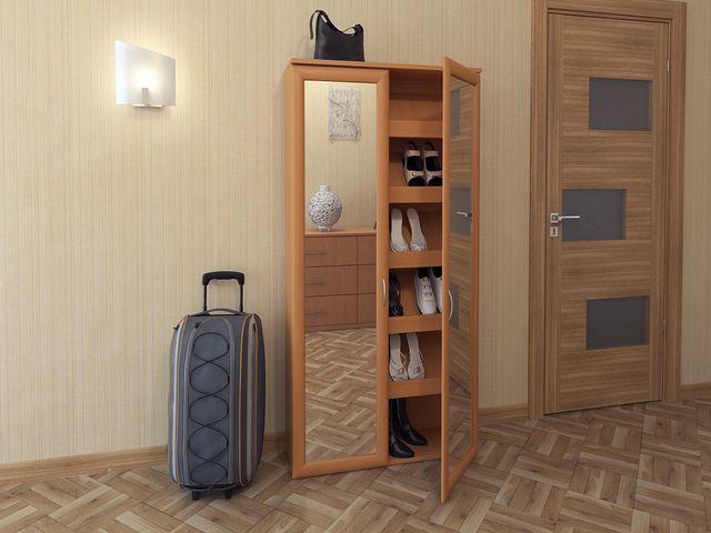 деревянный шкаф для обуви в классическом стиле